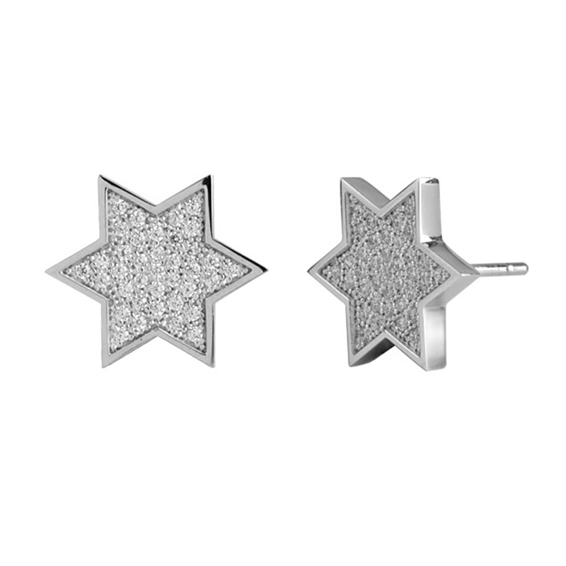 Star Shape 925 Silver Earrings