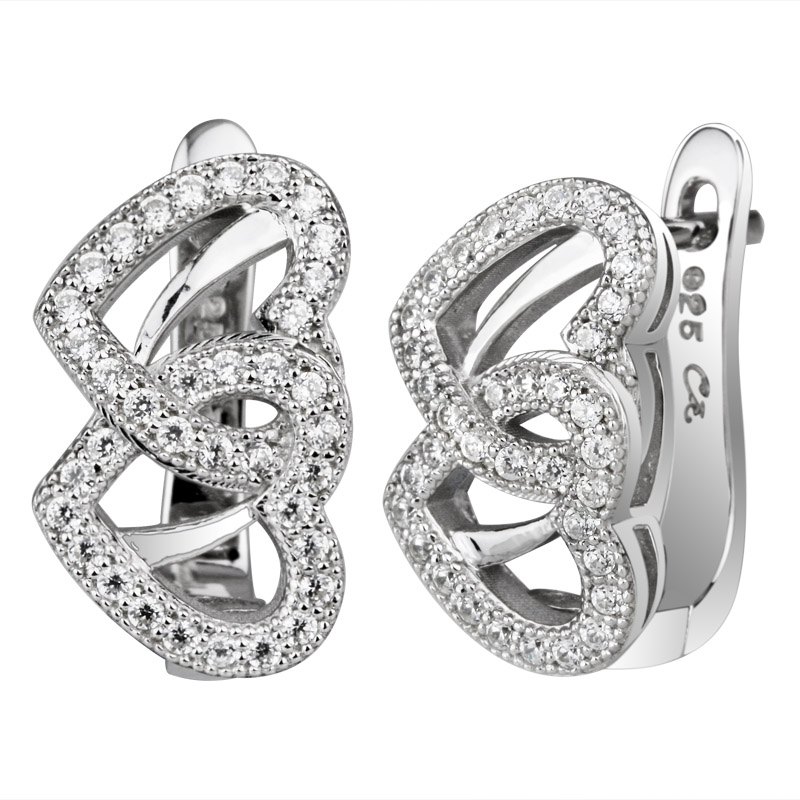 Double Heart Shape Earrings