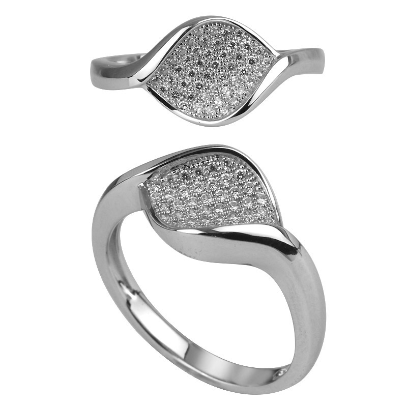 Micro Pave Setting Twist Ring
