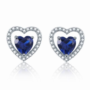 Blue CZ Stud Earrings
