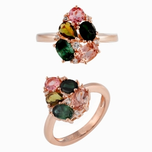 Tourmaline Multi Gemstone Ring